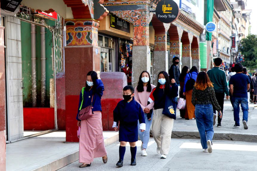 Despite a raging outbreak next door in India, Bhutan has recorded about 880 cases and one death from COVID-19. (AP)